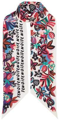 Fendi Flowers Maxi Wrappy scarf