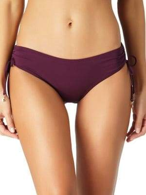 Anne Cole Ruched Side-Tie Bikini Bottom
