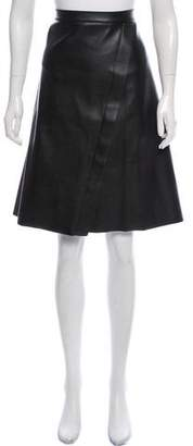 Liviana Conti Faux Leather Knee-Length Skirt