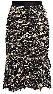 Proenza Schouler Women's Fil Coupé Midi Skirt