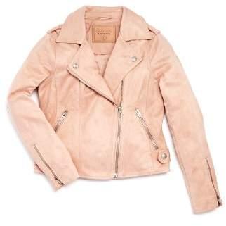 Blank NYC BLANKNYC Girls' Faux-Suede Zip Moto Jacket - Big Kid