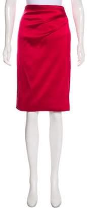 Oscar de la Renta Satin Pencil Skirt