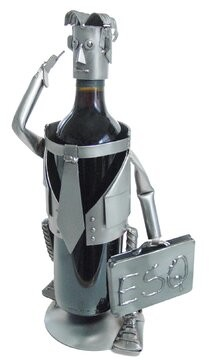 H & K SCULPTURES Male Esquire 1 Bottle Tabletop Wine Rack H & K SCULPTURES