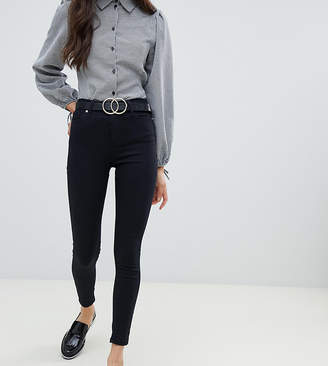 Miss Selfridge Lizzie high waist skinny jeans in black