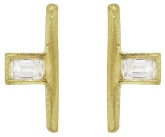 Tate Small Baguette Diamond Stud Earrings