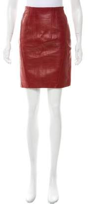 Jitrois Leather Pencil Skirt