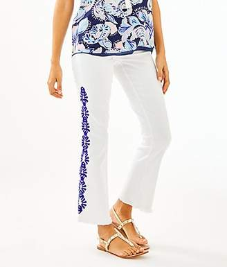 """Lilly Pulitzer 27.5"""" South Ocean Crop Flare Jean"""