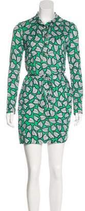 Diane von Furstenberg Silk Abstract Print Mini Dress