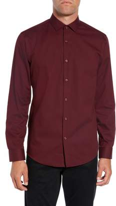 Calibrate Slim Fit Non Iron Polka Dot Sport Shirt