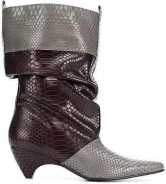 Stella McCartney snake embossed boots