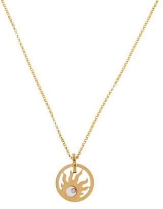 Chopard 18K Happy Sun Diamond Pendant Necklace