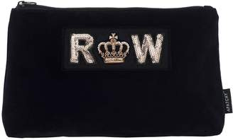Apatchy London Personalized Large Velvet Pouch- Midnight Navy