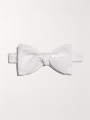 Turnbull & Asser Pre-Tied Cotton-Pique Bow Tie - Men - White