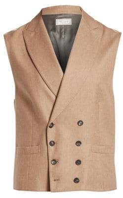 Brunello Cucinelli Double-Breasted Wool & Cashmere Vest