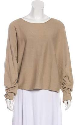 The Row Knit Long Sleeve Poncho
