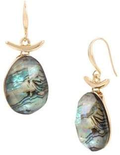 Robert Lee Morris Soho Midnight Hour Abalone and Black Crystal Drop Earrings