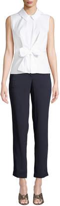 Karl Lagerfeld Paris Zip-Pocket Skinny Leg Pants