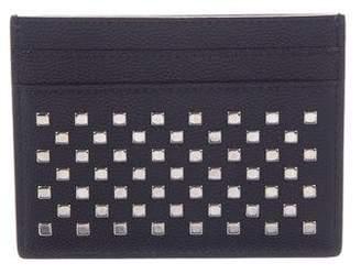 Saint Laurent Embellished Leather Card Holder