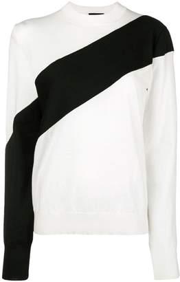 Calvin Klein paneled sweater