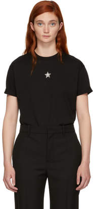 Stella McCartney Black Crystal Mini Star T-Shirt
