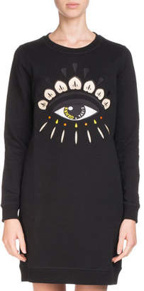 Kenzo Crewneck Signature Classic Sweatshirt Dress