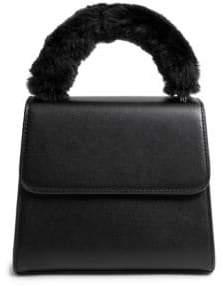 Steve Madden Faux Fur Top Handle Satchel Bag