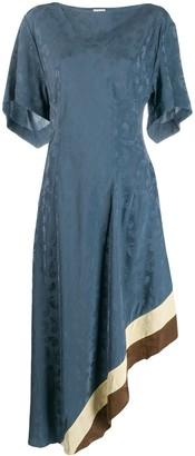 Loewe jacquard asymmetric dress