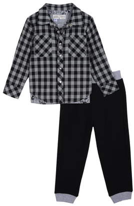 Pippa Little Brother by & Julie x Disney Plaid Shirt, T-Shirt & Pants Set