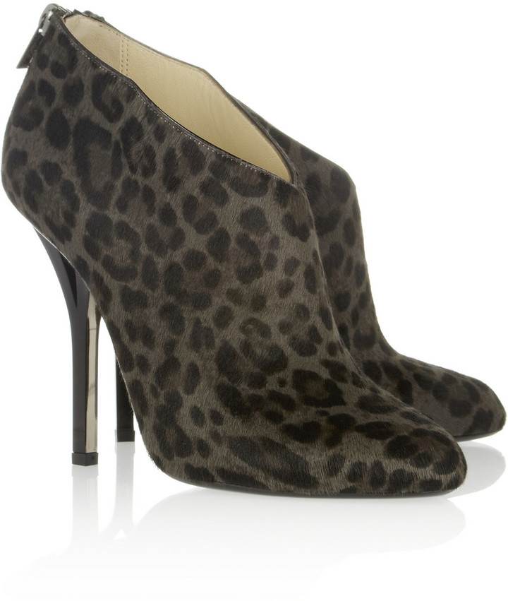 Jimmy Choo Lane leopard-print calf hair ankle boots