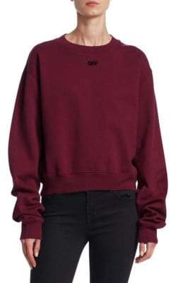 Off-White Arrow Crop Sweatshirt