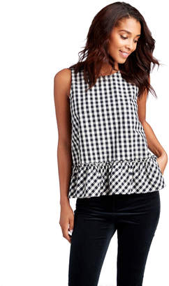 Vineyard Vines Gingham Sleeveless Flounce Shirt