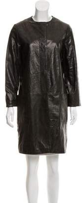 Dawn Levy Long Sleeve Leather Jacket
