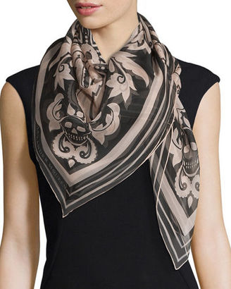 Alexander McQueen Paisley Printed Silk Scarf $385 thestylecure.com