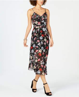 Foxiedox Embellished Floral-Print Midi Dress