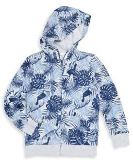 Little Boy's Printed Zip-Front Hoodie