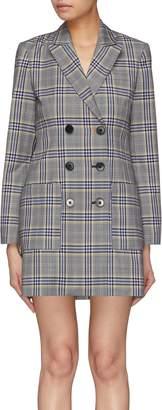 Tibi Tartan plaid blazer dress