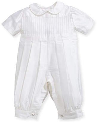 Isabel Garreton Boys' Tucks Silk Christening Playsuit, Size 3-24 Months