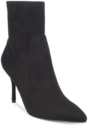 Nine West Cadence Sock Pointed-Toe Booties $99 thestylecure.com