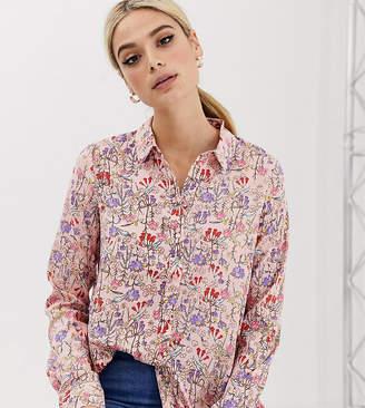 Vero Moda Tall Dip Hem Printed Shirt