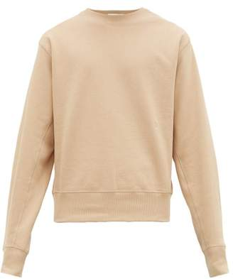 Helmut Lang Masc Logo Embroidered Cotton Sweatshirt - Mens - Tan