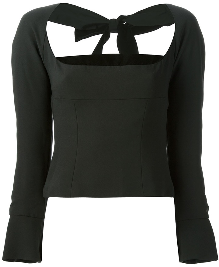 Yves Saint Laurent Vintage bow back top
