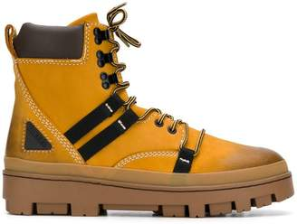 Diesel lace-up hiking boots