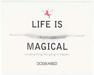 Dogeared Id Life Is Magical Thin Bar Bracelet