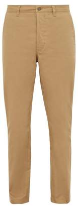 Acne Studios Cotton Blend Chino Trousers - Mens - Beige