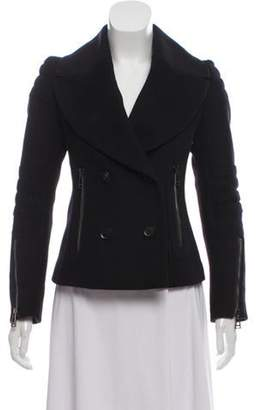 Belstaff Wool Double-Breasted Coat Black Wool Double-Breasted Coat