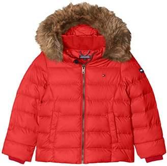 Tommy Hilfiger Girl's AME THKG DG BASIC DOWN JACKET Regular Fit Long Sleeve Jacket,(Manufacturer Size: 8 year)