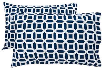 Pottery Barn Teen Peyton Pillowcases, Set of 2, Royal Navy