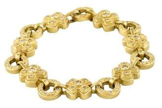 Xo 18K Diamond Link Bracelet