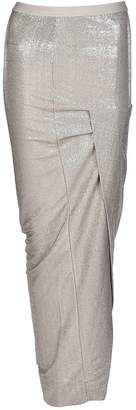 Rick Owens Lilies Wrap Front Long Skirt