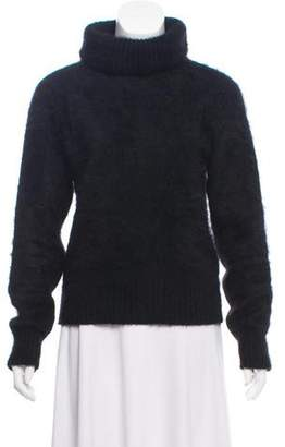 Saint Laurent Fuzzy Turtleneck Sweater